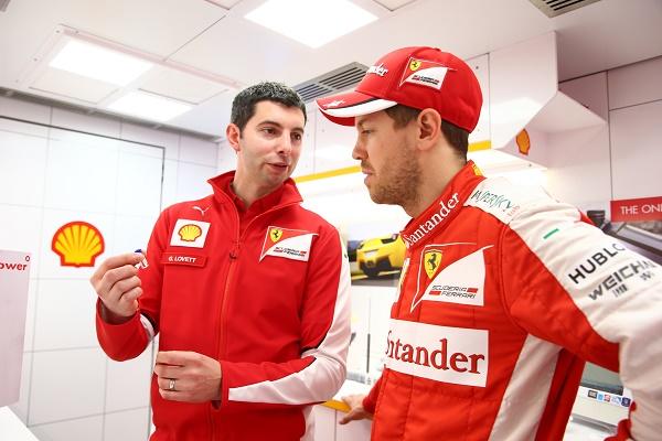 Guy Lovet e Sebastian Vettel