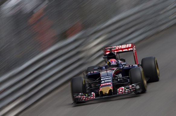 Monte Carlo, Monaco. Thursday 21 May 2015. Max Verstappen, Toro Rosso STR10 Renault. World Copyright: Andy Hone/LAT Photographic. ref: Digital Image _ONY8914