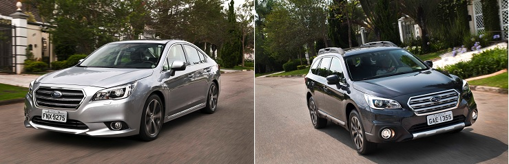 Legacy e Outback, novos Subaru