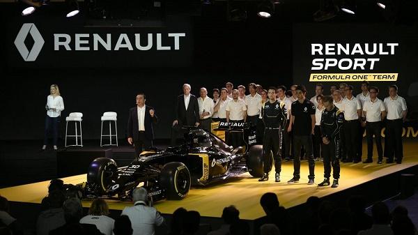 Carlos Goshn, CEO da Renault, apresenta seu F1 Team