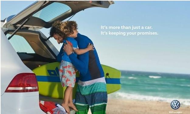 O anúncio VW enfatiza pessoas e fez sumir o Das Auto