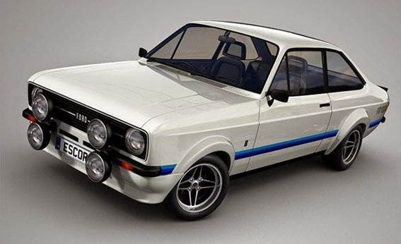 3.Ford Escort RS 1800 de 1976, hoje carro de colecionador com preço que pode chegar a R$ 230 mil.