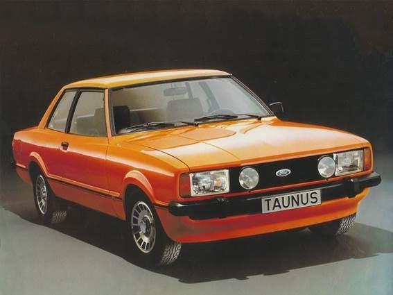 7. Ford Taunus, carro com cor extravagante que nasceu junto com o movimento punk, em 1976, baseado no Ford Cortina MK IV.