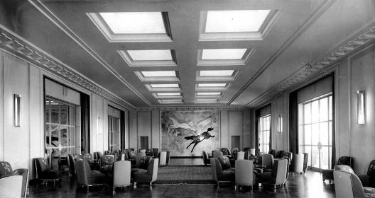 imagem interna da antiga sede do Jockey Club de São paulo