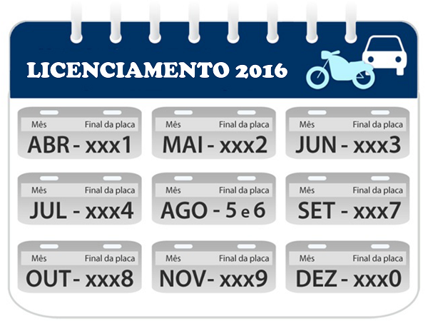 Licenciamento_Calendário 2016